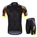 cheap Cycling Jersey & Shorts / Pants Sets-Arsuxeo Men's Short sleeves Cycling Jersey with Shorts - Black Bike Clothing Suit, 3D Pad