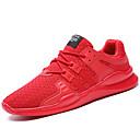 זול נעלי בד ומוקסינים לגברים-בגדי ריקוד גברים סריגה / טול קיץ / סתיו נוחות נעלי ספורט לבן / שחור / אדום