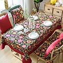 cheap Table Cloths-Contemporary PVC(PolyVinyl Chloride) / Cotton Square Table Cloth Floral Table Decorations 1 pcs