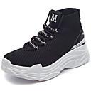 ieftine Pantofi Sport de Damă-Unisex Pantofi Tul Primavara vara Confortabili Adidași de Atletism Alergare Toc Drept Alb / Negru