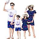 ieftine Set Îmbrăcăminte De Familie-Adulți Familie Uite Mată Manșon scurt Set Îmbrăcăminte