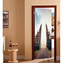 preiswerte Wand-Sticker-Dekorative Wand Sticker / Türaufkleber - Tier Wandaufkleber / Ferien-Wand-Aufkleber Formen / 3D Wohnzimmer / Schlafzimmer