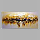 billige Hengelamper-Hang malte oljemaleri Håndmalte - Abstrakt Moderne Uten Indre Ramme / Valset lerret