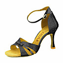 abordables Cubos de Rubik-Mujer Zapatos de Baile Latino / Zapatos de Salsa Brillantina / Semicuero Sandalia / Tacones Alto Hebilla / Corbata de Lazo Tacón Personalizado Personalizables Zapatos de baile Plata / Azul / Oro