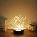 abordables Adhesivos de Pared-1 juego Luz nocturna 3D Blanco Cálido USB Creativo / Alivio del estrés y la ansiedad / Decoración 5V