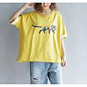 billige IP-kameraer-Bomull Draperte ermer T-skjorte Dame - Ensfarget, Åpen rygg Vintage Svart & Rød