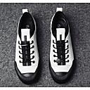 cheap Men's Sneakers-Men's Cowhide Spring Comfort Sneakers White / Black / Silver
