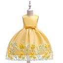 povoljno Haljine za djevojčice-Djeca Djevojčice Jednobojni / Cvjetni print Bez rukávů Haljina
