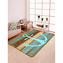 cheap Abstract Paintings-Area Rugs Traditional / Country Flannelette, Flat Shape Superior Quality Rug