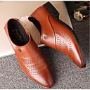 זול נעלי אוקספורד לגברים-בגדי ריקוד גברים PU קיץ נוחות נעליים ללא שרוכים שחור / חום