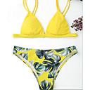 baratos Acessórios de Cabelo-Mulheres Nadador Vintage / Boho Triângulo Biquíni - Floral, Estampado Tanga