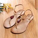 ieftine Sandale de Damă-Pentru femei Pantofi PU Vară Confortabili Sandale Toc Drept Vârf deschis Piatră Semiprețioasă Negru / Camel / Migdală