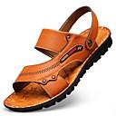 abordables Zapatos de Ciclismo-Hombre PU Verano Confort Sandalias Marrón Claro / Morrón Oscuro