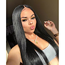 billige Blondeparykker af menneskehår-Remy hår Helblonde Paryk Brasiliansk hår Lige Paryk 130% Natural Hairline / Med bløde knuder Dame Lang Blondeparykker af menneskehår