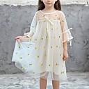 tanie Sukienki dla dziewczynek-Dzieci Dla dziewczynek Słodkie Wyjściowe ananasowy Owoc Nadruk Rękaw 3/4 Midi Sukienka