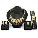 baratos Anéis-Mulheres Conjunto de jóias - Vintage, Fashion, Oversized Incluir Dourado Para Noite & ocasião especial Mascarilha