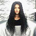 tanie Peruki z włosów ludzkich-Włosy naturalne remy Koronkowy przód Peruka Włosy brazylijskie Kędzierzawy Peruka 150% 100% Dziewica Damskie Długo Peruki koronkowe z naturalnych włosów