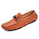 olcso Swing cipők-Férfi cipő Bőr Tavasz Kényelmes / Mokaszin Papucsok & Balerinacipők Fekete / Barna / Kék