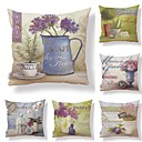 cheap Pillow Covers-6 pcs Textile / Cotton / Linen Pillow case, Print / Art Deco / Printing Square Shaped / European Style