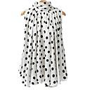 abordables Ropa para Perro-Mujer Básico Tallas Grandes Lazo Camisa, Cuello Alto Corte Ancho A Lunares / Verano