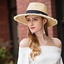 cheap Party Headpieces-Natural Fiber Hats with Braided Strap 1pc Casual / Daily Wear Headpiece