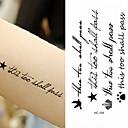abordables Tatuajes Temporales-Adhesivo / Pegatina tatuaje brazo Los tatuajes temporales 10 pcs Serie de mensajes Artes de cuerpo