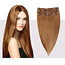 cheap Plant Growing Lights-Febay Clip In Human Hair Extensions Straight Blonde Brown Human Hair Extensions Human Hair 14-24 inch 7pcs / pack Multi Color Shedding Free Tangle Free Women's - Medium Brown / Bleach Blonde Black