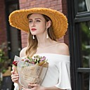cheap Party Headpieces-Natural Fiber Hats with Rattan 1pc Casual / Daily Wear Headpiece