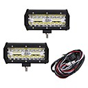 baratos Luzes LED de Automotivo-2pcs Carro Lâmpadas 120W LED Integrado 12000lm 40 LED luzes exteriores For Universal 2018