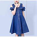 tanie Sukienki dla dziewczynek-Dzieci Dla dziewczynek Słodkie Solidne kolory Krótki rękaw Sukienka