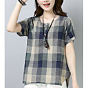 abordables Anillos-Mujer Vintage Borla Camiseta Un Color Blanco y Negro