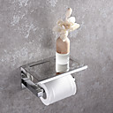 hesapli Sabunluk-Tuvalet Kağıdı Tutacağı Yeni Dizayn Modern Paslanmaz Çelik 1pc - Banyo Duvara Monte Edilmiş