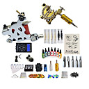 cheap Temporary Tattoos-BaseKey Tattoo Machine Starter Kit - 2 pcs Tattoo Machines with 7 x 15 ml tattoo inks, Professional, Kits Alloy LCD power supply Case Not Included 20 W 2 alloy machine liner & shader