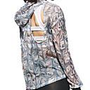 זול ביגוד כושר, ריצה ויוגה-בגדי ריקוד נשים רשת / פתוח בגב ג'קט לריצה - שחור / לבן ספורט חלול צמרות כושר גופני לבוש אקטיבי ייבוש מהיר, נשימה סטרצ'י (נמתח)