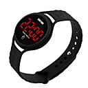cheap Men's Bracelets-Men's Women's Digital Watch Digital 30 m Water Resistant / Water Proof LCD 3D Cartoon Silicone Band Digital Cool Elegant Black / White / Blue - Yellow Red Blue One Year Battery Life