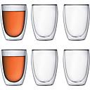お買い得  カップ、マグカップ-カップ、グラス 高ホウ素ガラス マグカップ 断熱 6 pcs