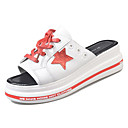 cheap Women's Slippers & Flip-Flops-Women's Shoes PU(Polyurethane) Summer Comfort Slippers & Flip-Flops Flat Heel Black / Red
