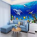 preiswerte Wand-Sticker-Unterwasserwelt Delphin maßgeschneiderte Wandbekleidung 3D-Wandtapeten für Spielplätze, Restaurants, Kinder