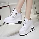cheap Women's Sneakers-Women's Shoes PU(Polyurethane) Summer Comfort Sneakers Flat Heel White / Black