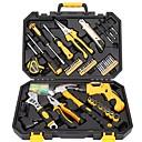 preiswerte Werkzeugsets-Stahl + Kunststoff Befestigungselemente Arbeitsutensilien Werkzeugkästen