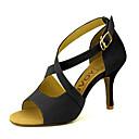 abordables Zapatos de Baile Latino-Mujer Zapatos de Baile Latino / Zapatos de Salsa Ante / Semicuero Sandalia / Tacones Alto Hebilla / Corbata de Lazo Tacón Personalizado