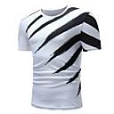 billige Kjoleur-Rund hals Herre - Farveblok Bomuld Basale T-shirt Sort og hvid / Kortærmet