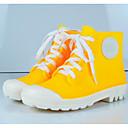 זול מגפי נשים-בגדי ריקוד נשים עור PVC אביב קיץ מגפי גשם מגפיים הליכה עקב נמוך בוהן סגורה מגפונים\מגף קרסול אדום / כחול / ורוד