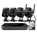 cheap Nail Glitter-Funlux® 4CH 1080p HDMI NVR 4 720p HD Indoor Outdoor Wireless Home Security Camera System 500GB Hard Dri