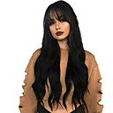 cheap Human Hair Wigs-Remy Human Hair Full Lace Wig Brazilian Hair Wavy Wig 130% Hair Density Natural Hairline With Bleached Knots Women's Long Human Hair Lace Wig