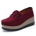 cheap Women's Oxfords-Women's Shoes Suede Fall Comfort Loafers & Slip-Ons Creepers Brown / Army Green / Wine / Party & Evening