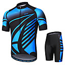 cheap Cycling Jersey & Shorts / Pants Sets-Arsuxeo Men's Short sleeves Cycling Jersey with Shorts - Blue Bike Clothing Suit, 3D Pad