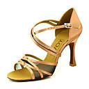 ieftine Pantofi Dans Latin-Pentru femei Pantofi Dans Latin / Sală Dans Satin Sandale Cataramă Toc Personalizat Personalizabili Pantofi de dans Galben / Fucsia / Violet / Piele de Căprioară
