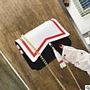 זול תיקי צד-בגדי ריקוד נשים שקיות PU תיק כתף כפתורים / פרנזים שחור