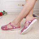 cheap Women's Flats-Women's Synthetic Spring & Summer Comfort Sandals Flat Heel Round Toe Sequin Gold / Silver / Pink / Color Block